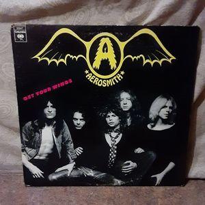 Vintage Aerosmith Get Your Wings Vinyl LP Album
